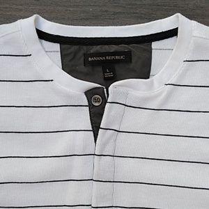 Banana Republic Men's Lg White Long Sleev Shirt